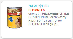 pedigree canned dog food coupon