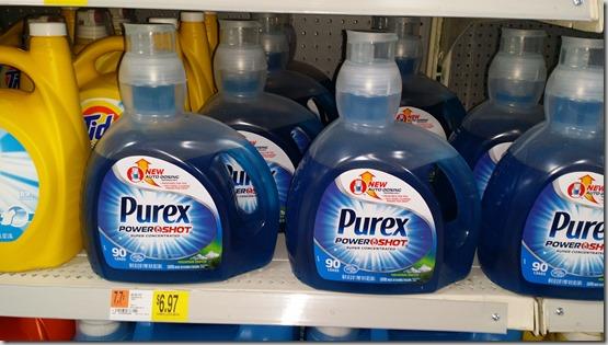 Save $1.00 on Purex Power Shot Laundry Detergent!