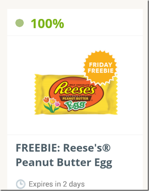 SavingStar Friday FREEbie: FREE Reese's Peanut Butter Egg!