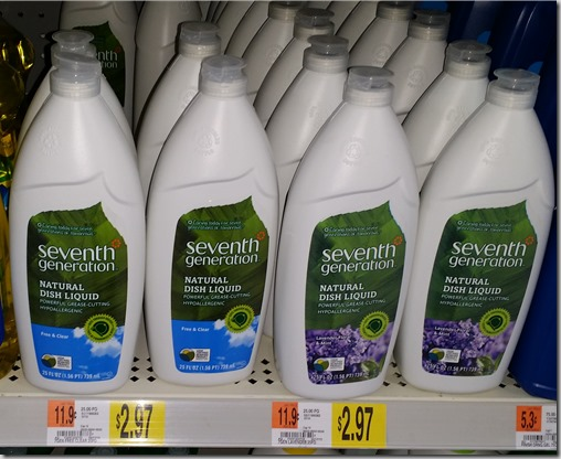 Seventh Generation Dish Liquid Just $1.97 at Walmart!