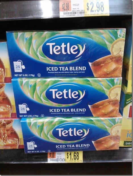 FREE Tetley Tea with Overage at Walmart!