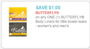 butterfly liners coupon