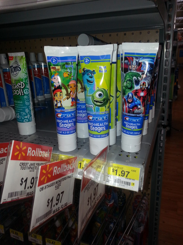 Crest Stages Toothpaste Only $1.47 at Walmart!