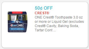 Crest Toothpaste as low as $2.17 at Walmart!