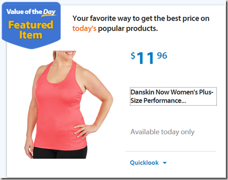 Walmart Value of the Day: Danskin Shorts for $8.86 and Shirts for $11.96!