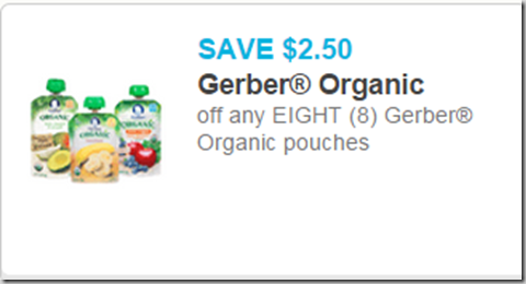 Gerber Organic Pouches Just $1.12 at Walmart