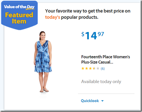 """Walmart Values of the Day: Fourteenth Place Dress for $14.97 or 24"""" RCA HDTV for $139.99!"""