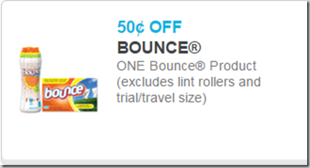 New Printable Coupons for Gain, Bounce and Downy