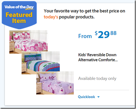 Walmart Values of the Day: Kid's Comforter Set Just $29.88 or 1250W Microwave for $99.88!