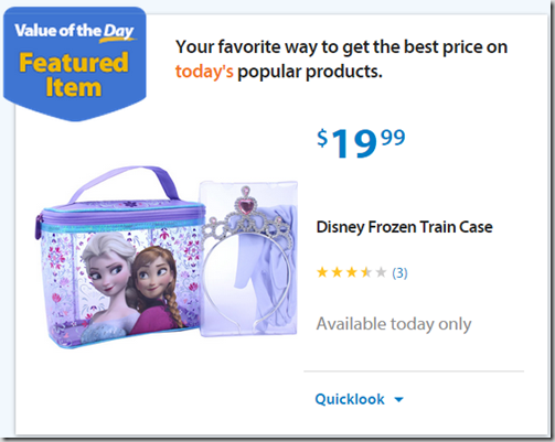 Walmart Values of the Day: Disney Frozen Train Case for $19.99 or Black & Decker Edger/Trimmer Just $124!