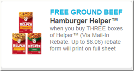 Get a FREE Pound of Hamburger Meat When You Buy Hamburger Helper