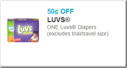 Tomorrow Only: Luvs Diapers Just $4.25 at Walmart or Safeway!
