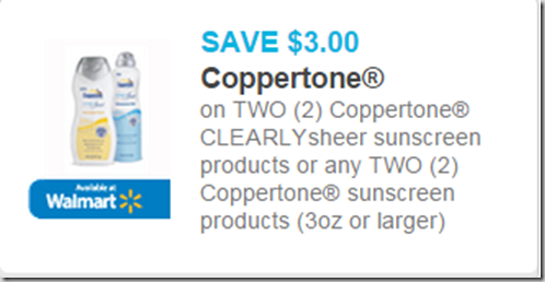 Coppertone Sunscreen is $5.47 at Walmart!
