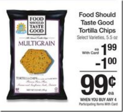 Walmart Price Match Deal:FREE Food Should Taste Good Tortilla Chips with Overage!
