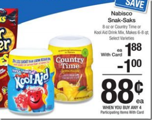 Walmart Price Match Deal: Kool-Aid or Country Time Canisters Just $.38!