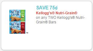 nutrigrain coupon