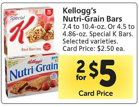 Walmart Price Match Deal: Kellogg's Nutri-Grain Bars for $2.12!
