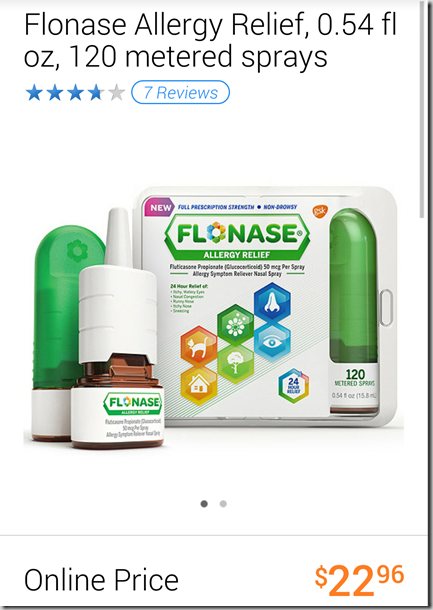 Save $4 on Flonase and Walmart Matchup!