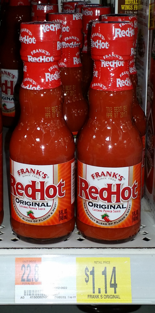 Frank's RedHot Sauce Just $.14 at Walmart!