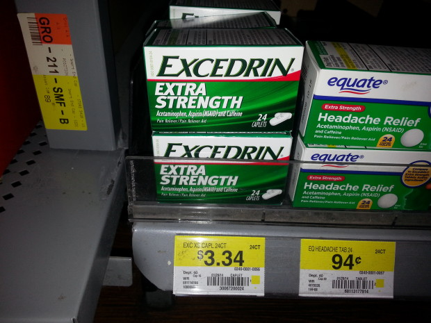 Excedrin as low as $2.34 at Walmart!