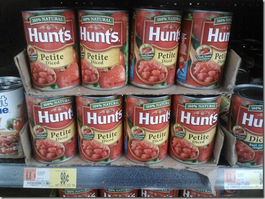 Hunt's Tomatoes Just $.45 a Can at Walmart!