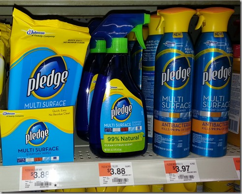 HOT! Pledge Multi-Surface Spray Just $.97 at Walmart!