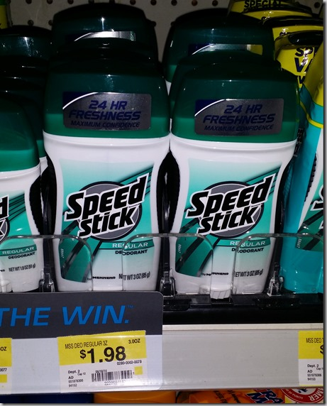 Speed Stick Gear Deodorant Just $.48 at Walmart!