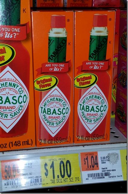 Tabasco Sauce Just $.30 at Walmart!