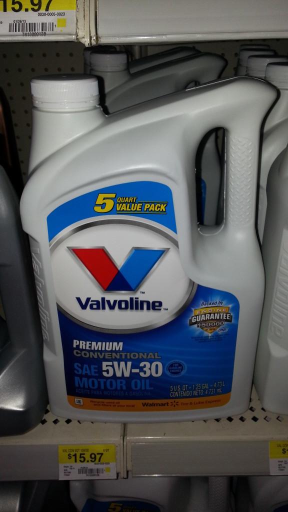Valvoline motor oil only at walmart grocery for Motor oil coupons walmart