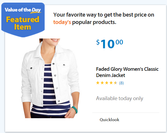 17dd85dd7c4 Walmart Value of the Day  Faded Glory Women s Jacket or Pants Starting at   10!