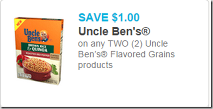 Uncle Ben's Flavored Grains Just $1.48 at Walmart!