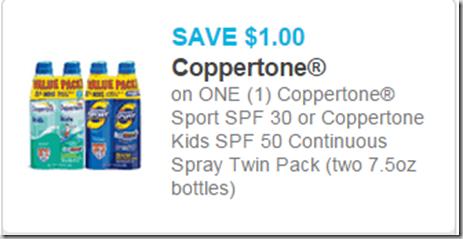 Save $1 on Coppertone Twinpacks!