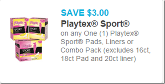 save up to  5 on playtex products