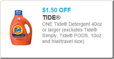 New High Dollar Coupon for Tide Detergent!