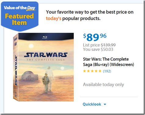 Walmart Values of the Day: May the 4th Be With You!