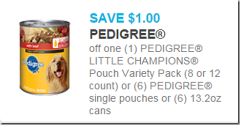 Pedigree Dog Food Starting at $.58 at Walmart!