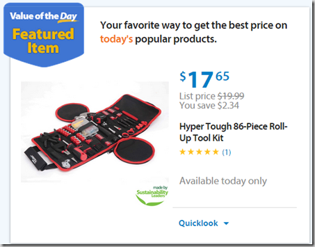 Walmart Values of the Day: Hyper Tough Toolkit for $17.65 or Chromebook for $129!