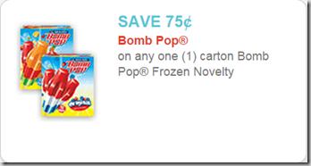 Super Rare Printable Coupon for Bomb Pop Frozen Treats!
