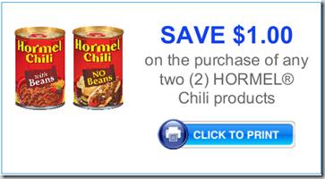 Hormel Chili Just $.50 at Walmart!
