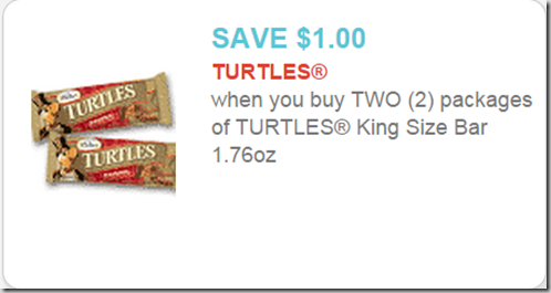 Turtles King Size Bars are $.78 at Walmart!
