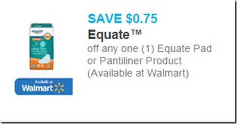 Equate Pads Just $1.22 at Walmart!
