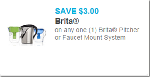 New High Dollar Coupon for Brita Pitchers!
