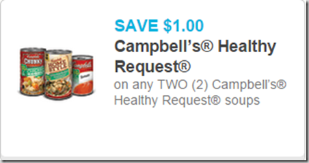 Campbell's Healthy Request Soup Starting at $.75 at Walmart!