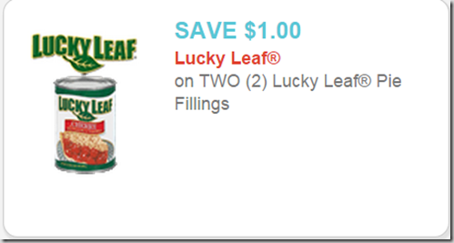 New Printable Coupon for Lucky Leaf Pie Filling!