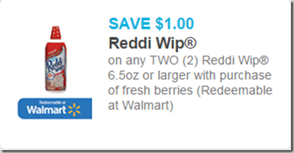 New Printable Coupon for Reddi Wip and Berries!