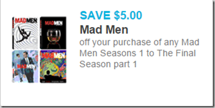 Huge High Dollar Coupon for Full Seasons of Mad Men!
