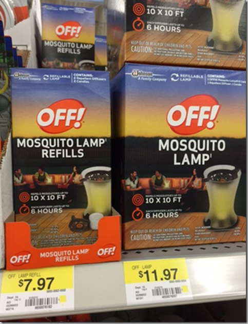 Off! Mosquito lamps Just $9.97 at Walmart!