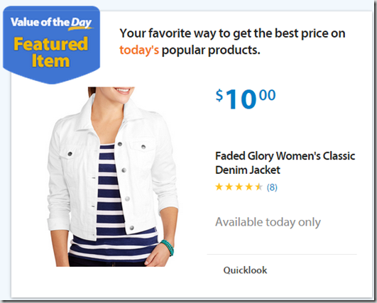 Walmart Value of the Day: Faded Glory Women's Jacket or Pants Starting at $10!