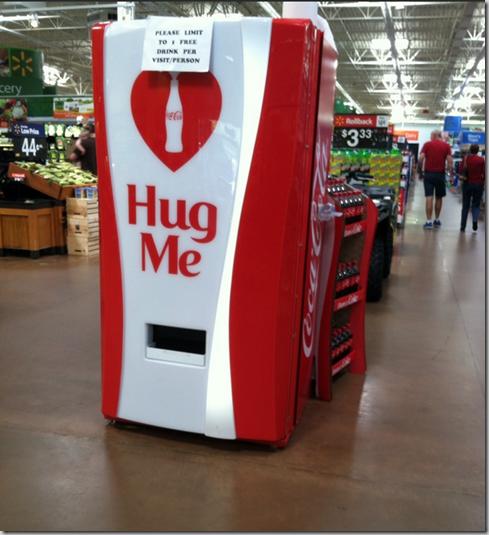 Get a FREE Coke by Hugging a Coke Machine at Walmart!