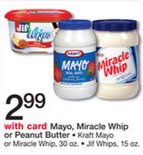 Walmart Price Match Deal: Kraft Mayo or Miracle Whip for $2.49!